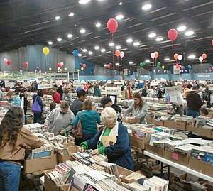 Photo - A scene from last year's book sale. PHOTO PROVIDED BY FRIIENDS OF THE LIBRARY <strong></strong>