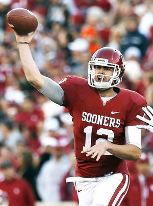 Photo - Oklahoma quarterback Landry Jones will lead the Sooners into the Cotton Bowl against Texas A&M.  Photo by Sarah Phipps, The Oklahoman