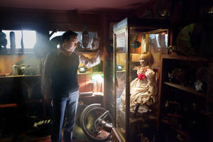 "Photo - In this publicity image released by Warner Bros. Pictures, Patrick Wilson portrays Ed Warren in a scene from ""The Conjuring."" (AP Photo/New Line Cinema/Warner Bros. Pictures, Michael Tackett)"