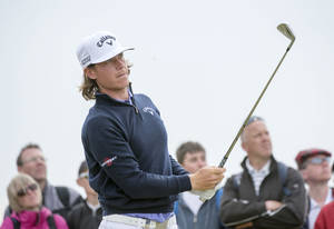 Photo - Sweden's Kristoffer Broberg plays a shot off the 6th tee during day three of the Scottish Open at Royal Aberdeen, Aberdeen, Scotland, Saturday July 12, 2014. (AP Photo/PA, Kenny Smith) UNITED KINGDOM OUT  NO SALES  NO ARCHIVE