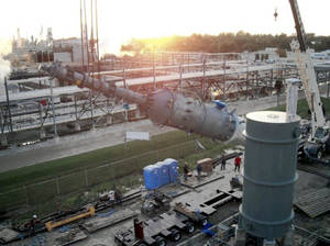 photo - Construction of the new Dynamic Fuels plant in Giesmar, La., is expected to be complete by early 2010. The plant is a joint venture of Syntroleum Corp. and Tyson Foods. PHOTO PROVIDED