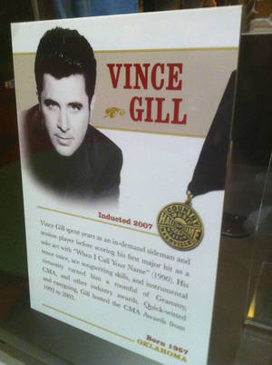 Photo - Vince Gill poster. Photo by Bryan Painter