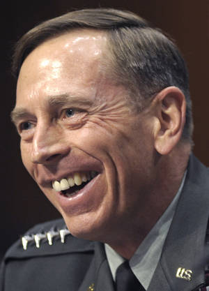 Photo -   FILE - CIA Director nominee Gen. David Petraeus testifies on Capitol Hill in Washington, Thursday,June 23, 2011, before the Senate Intelligence Committee hearing on his nomination. Petraeus is a recipient of the 2012 Jefferson Award. (AP Photo/Cliff Owen)