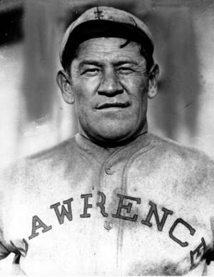This undated photo shows Jim Thorpe in a baseball uniform. AP PHOTO