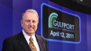 photo - Gulfport Energy Corp. CEO Jim Palm rang the opening bell Tuesday at the NASDAQ Market Center in New York. PHOTO PROVIDED        ORG XMIT: 1104122227220837