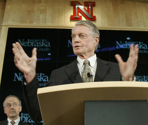 Photo - Tom Osborne and Nebraska are leaving the Big 12 Conference. AP photo
