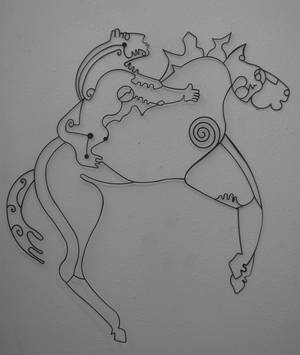 Photo - Spirit Horse, a wire sculpture by Asia Scudder.  Photo provided