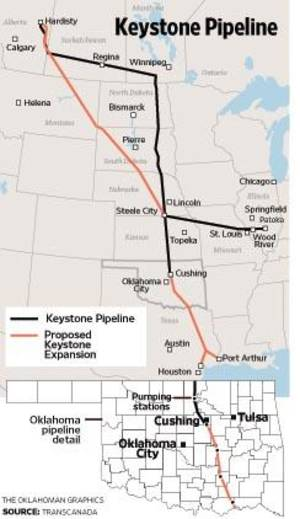photo - Keystone Pipeline MAP / GRAPHIC