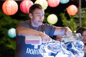 "Photo - Seann William Scott loads up the punch bowl in this scene from ""American Reunion."" UNIVERSAL PICTURES PHOTO <strong>Hopper Stone</strong>"