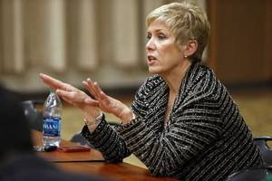 Photo - File photo - Oklahoma School Superintendent Janet Barresi - Photo by Steve Sisney