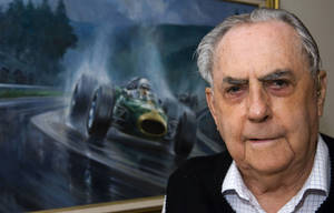 Photo - FILE - In this Sept. 8, 2009, file photo Jack Brabham poses for a photo at his home on the Gold Coast, in Australia. Three-time Formula One champion Brabham died early Monday, May 19, 2014, at his home on the Gold Coast, the Australian Grand Prix Corporation said. He was 88. (AP Photo/Steve Holland, File)
