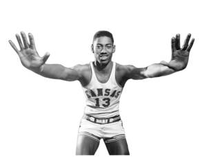 Photo - Wilt Chamberlain, in his days as a Kansas University basketball player.