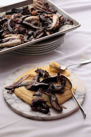 Photo - Soft Polenta with Grilled Portobellos and Treviso makes for the ultimate Italian comfort food. MCT Photo
