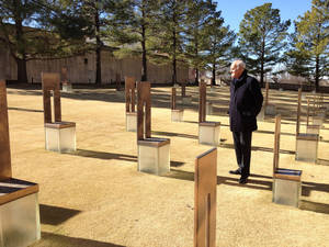 Photo - Ambassador João Vale de Almeida, the European Union's ambassador to the United States, stopped at the Oklahoma City National Memorial & Museum on Wednesday, Jan. 15, 2014, during a two-day tour of Oklahoma. <strong>Maeve O'Beirne - PROVIDED</strong>