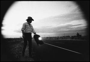 "Photo - ""Bruce on Highway"" is featured in the exhibit ""Bruce Springsteen: A Photographic Journey,"" opening Tuesday at the Woody Guthrie Center in Tulsa.  Photo provided by Pamela Springsteen <strong></strong>"