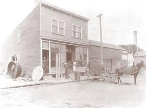 Photo -  Boldt Co. started in Appleton, Wis., in 1889 with this carpenter shop owned and operated by Martin Boldt. PROVIDED BY BOLDT CO.  <strong></strong>