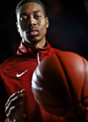 photo - UNIVERSITY OF OKLAHOMA COLLEGE BASKETBALL: Isaiah Cousins poses for a photo during the OU men&#039;s basketball media day on Monday, Oct. 29, 2012, in Norman, Okla. Photo by Chris Landsberger, The Oklahoman