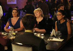 "Photo - This image released by ABC shows, from left, Lauren Ash, Rebel Wilson and Liza Lapira in a scene from ""Super Fun Night,"" premiering Wednesday, Oct. 2, at 9:30 p.m. EST on ABC. (AP Photo/ABC, Carol Kaelson)"