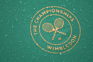 Photo - Raindrops fall on a Wimbledon umbrella as tennis fans huddle under umbrellas as they watch Roger Federer of Switzerland play Gilles Muller of Luxembourg on a a large TV screen at the All England Lawn Tennis Championships in Wimbledon, London, Thursday, June 26, 2014. (AP Photo/Ben Curtis)
