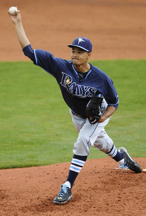 Photo - Tampa Bay Rays pitcher Chris Archer starts against the Montgomery Biscuits during an exhibition baseball game in Montgomery, Ala., on Saturday, March 29, 2014. (AP Photo/Montgomery Advertiser, Mickey Welsh) NO SALES
