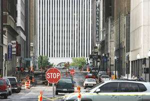 Photo - Reconstruction of several downtown Tulsa streets in 2007 created headaches for workers and visitors. OKLAHOMAN ARCHIVE PHOTO