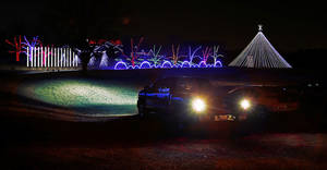 photo - The Downs Family Christmas Light Ministry draws hundreds of visitors each year to their home at 2900 72nd Ave. SE. PHOTO BY STEVE SISNEY, THE OKLAHOMAN