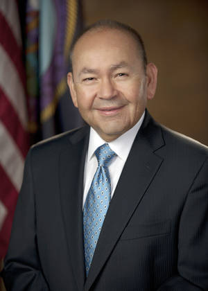 "Photo - Chickasaw Nation  Gov. Bill Anoatubby ""Out of consideration for the expressed concerns of Oklahoma City citizens, we have decided to revisit the name."""