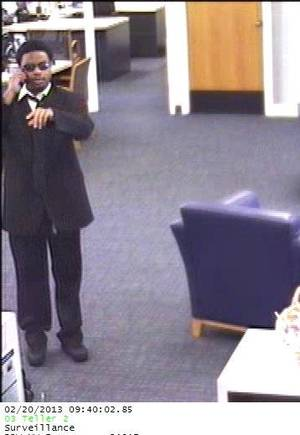 Photo - A robber is shown at Bank of the West, 5757 Northwest Expressway in Warr Acres.  Photo provided