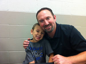 Photo -  Jeremy Freeman, right, with his son Trey. PHOTO PROVIDED  <strong></strong>