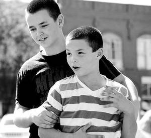 Photo - Lane Madison, left, and his younger brother, Gage Madison, of Cordell, are shown. Photo provided