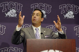 Photo - Texas Christian University AD Chris Del Conte. AP PHOTO