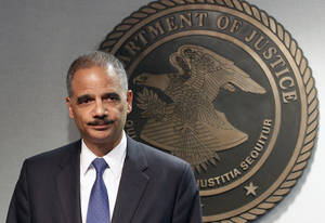 photo -   Attorney General Eric Holder speaks during a news conference in New Orleans, Thursday, June 28, 2012. The Obama administration and House Republicans refused to find a middle ground in a dispute over documents related to a botched gun-tracking operation, and the GOP plunged ahead with plans for precedent-setting votes Thursday to hold Attorney General Eric Holder in civil and criminal contempt o Congress. (AP Photo/Bill Haber)