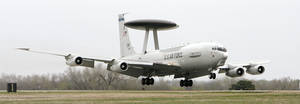 Photo - An E-3 Sentry lands at Tinker Air Force Base in 2007. PHOTO BY JIM BECKEL, THE OKLAHOMAN ARCHIVEs