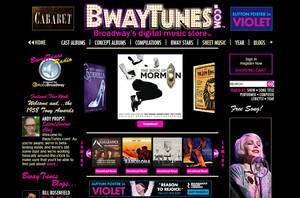 Photo - This screen image provided by BwayTunes.com shows the home page to their new digital theater music site. Monday, June 2, 2014, marks the launch of BwayTunes.com, which promises to become the Internet's most comprehensive catalog of digital musical theater music. (AP Photo/BwayTunes.com)