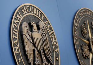 Photo - FILE - This Thursday, June 6, 2013, file photo, shows a sign outside the National Security Administration (NSA) campus in Fort Meade, Md.  The New York Times reported late Monday, March 24, 2014, that the Obama administration this week will propose that Congress overhaul the NSA's electronic surveillance program. (AP Photo/Patrick Semansky, File)