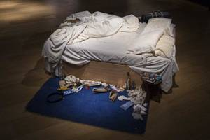 Photo - LONDON, ENGLAND - JUNE 27:  Tracy Emin's 1998 piece 'My Bed' on display at Christie's on June 27, 2014 in London, England. This iconic work from the YBA moment is being offered at auction for the first time and is estimated to sell for between 800,000 - 1.2 million GBP.  (Photo by Rob Stothard/Getty Images)