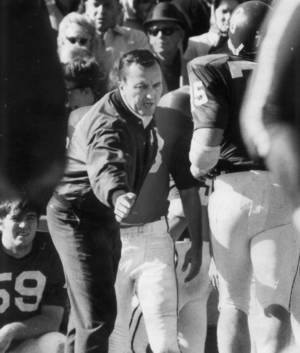 Photo - OU football coach Chuck Fairbanks. 11-22-69