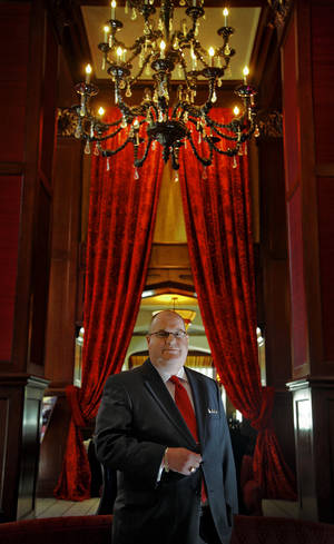 Photo - Martin van der Laan General Manager at The Skirvin Hilton, Oklahoma City at Marcus Hotels & Resorts on Monday, Sept. 10, 2012, in Oklahoma City, Okla.  Photo by Chris Landsberger, The Oklahoman