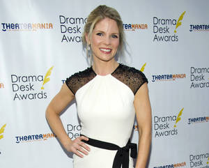 "Photo -   FILE - This June 3, 2012 file photo shows actress Kelli O'Hara at the 57th Annual Drama Desk Awards in New York. O'Hara will be taking a break from singing Gershwin songs on Broadway early next year _ to song Rodgers & Hammerstein tunes with the The New York Philharmonic. The Philharmonic said Monday, Nov. 12, that O'Hara, currently starring in ""Nice Work If You Can Get It"" at the Imperial Theatre, will appear as Julie Jordan in a production of ""Carousel"" running from Feb. 27 to March 2. (Photo by Charles Sykes/Invision/AP, file)"