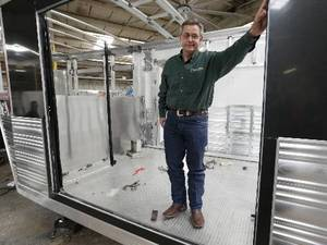 Photo - Michael Terry is co-owner of Cimarron Trailers in Chickasha. Photo by Steve Sisney, The Oklahoman <strong></strong>
