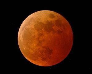 Photo -  A lunar eclipse. Photo provided by NASA Science <strong></strong>