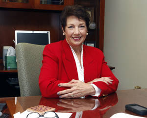 photo - Patricia Presley poses at her office at the Oklahoma County Courthouse in Oklahoma City, OK, Monday, December 17, 2012. Presley is stepping down as Oklahoma County court clerk after 16 years.  By Paul Hellstern, The Oklahoman