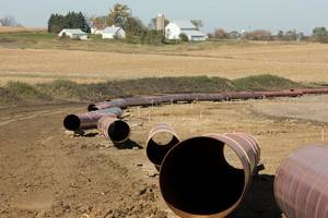 Photo - A pipeline awaits assembly in western Missouri. <strong>Jeff Frey - Photo provided</strong>