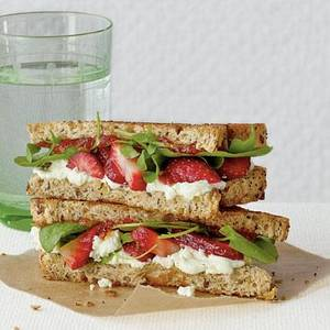 photo - Goat cheese and strawberry grilled cheese. (Photo provided)
