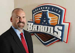 Photo - Bob Funk Jr. says despited some attendance woes, he's committed to keeping Triple-A hockey in Oklahoma City. Photo by Paul B. Southerland, The Oklahoman