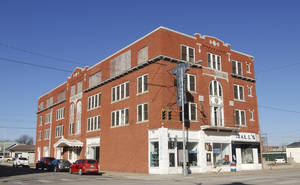 Photo - In this undated photo provided by the Oklahoma State Historic Preservation Office, the Larkin Hotel in downtown Blackwell is pictured. The Larkin Hotel was among five properties that the Oklahoma State Historic Preservation Office announced last week had been listed on the National Register of Historic Places. AP PHOTO <strong></strong>