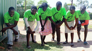 Photo - Students at Maisha Orphanage International who will run in the Rift Valley Marathon and relays in March are shown in this photo. Photo provided <strong></strong>