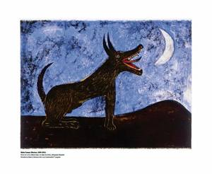 "Photo - ""Perro de la Luna"" (Moon Dog), an undated lithograph by Rufino Tamayo (Mexican, 1899-1991). Bank of America Collection Photo"