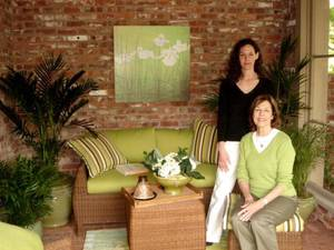 Photo - Christy White and Carol McPheeters, owners of Wilshire Garden Market in Oklahoma City. PHOTO PROVIDED