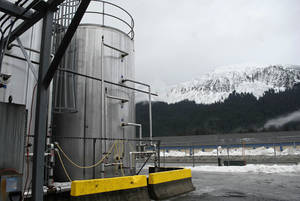Photo - The outside of the Alaskan Brewing Co. is shown Jan. 23 in Juneau, Alaska.  AP Photo
